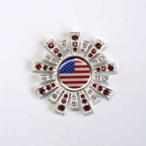 Silver USA Red